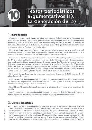Propuesta Didáctica Unidad 10. Lengua Castellana y ... - Algaida