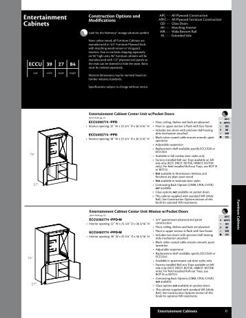 Kraftmaid 033 Entertainment Cabinets - Roberts Company, Inc.