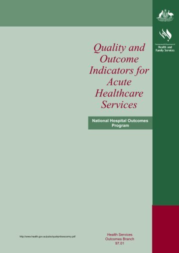 Quality and Outcome Indicators for Acute Healthcare Services