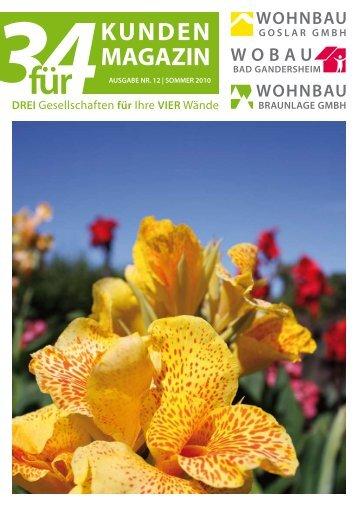 3fuer4 Ausgabe Sommer 2010 - WOBAU Bad Gandersheim