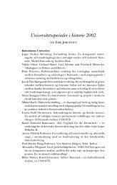 Universitetsspecialer i historie 2002 - Historisk Tidsskrift