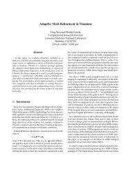 Adaptive Mesh Refinement in Titanium - Computational Research ...