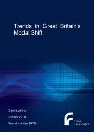 Trends in GB modal shift - Leibling - Report - RAC Foundation