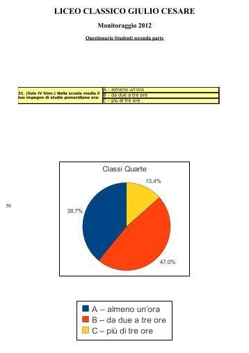 Grafici relativi alle risposte aperte del questionario studenti
