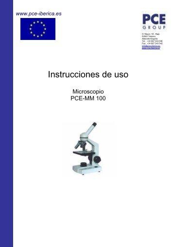 Instrucciones de uso - PCE Ibérica