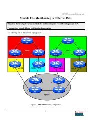 Module 13 – Multihoming to Different ISPs