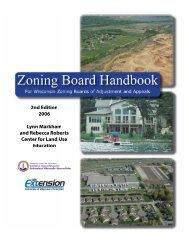 zoning board handbook - City of Platteville