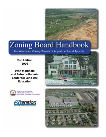 zoning board handbook - City of Platteville