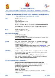 spanish international senior ladies' amateur championships - Golf.se