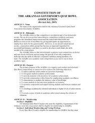 CONSTITUTION OF - Arkansas Quiz Bowl