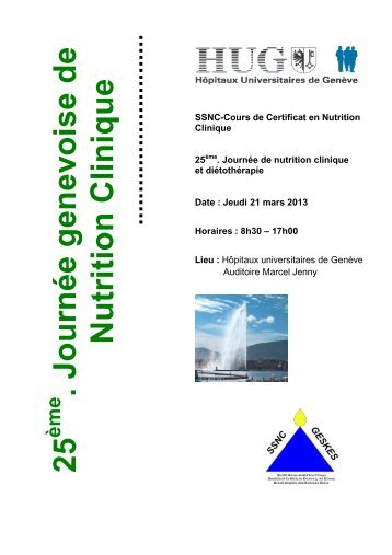 SSNC_Genève Journ. Nutrition et diétothérapie_21 mars 13 - geskes