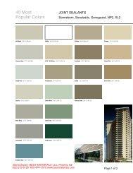 40 Standard Colors - Best Materials