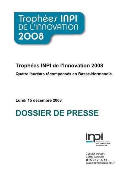DOSSIER DE PRESSE - inpi.fr: Rhône-Alpes Lyon