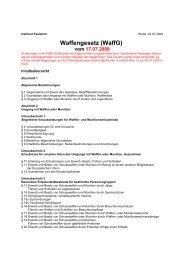 Waffengesetz (WaffG) - SV-Tell-Weilheim