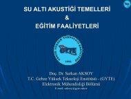 Su Altı Akustik Temeller & Eğitim Faaliyetleri - Gebze Yüksek ...