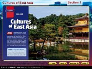 Cultures of East Asia Section 1 - Lake Central High School