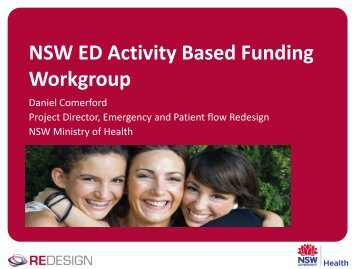 NSW ED Activity Based Funding Workgroup - Emergency Care ...