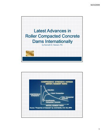 Latest Advances in Latest Advances in Roller Compacted Concrete ...