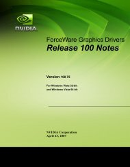 Release 100 Notes - Nvidia's Download site!!