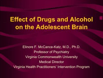 Effect of Drugs and Alcohol on the Adolescent Brain