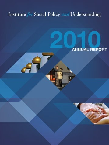 Download the Annual Report (PDF) - Institute for Social Policy and ...