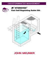 Hydrovex™ Clari Self Regulating Outlet Slit