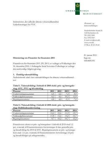 Almene voksenuddannelser - Undervisningsministeriet