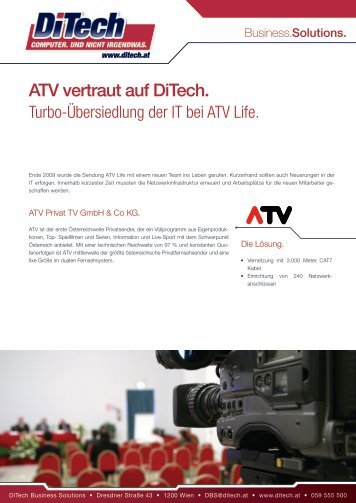 ATV vertraut auf Ditech.