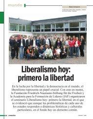Liberalismo hoy: primero la libertad - Revista Perspectiva