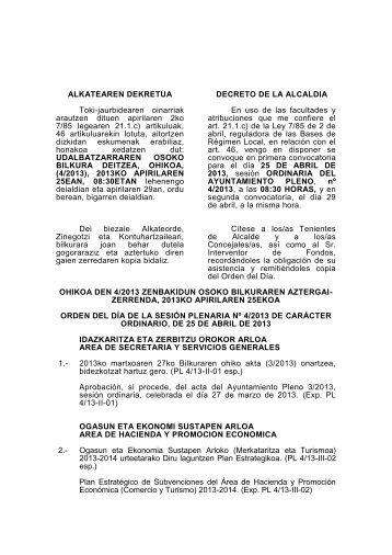 ALKATEAREN DEKRETUA - Ayuntamiento de Santurtzi