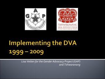 Vetten Gender Advocacy Project (GAP)