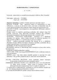 RADIOTERAPIJA I ONKOLOGIJA U  V  O  D Ionizacija ... - Beli Mantil