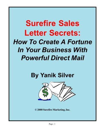 How to Write Blockbuster Sales Letters