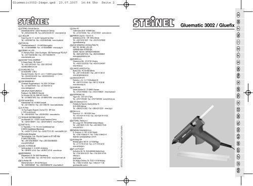 Gluematic 3002 / Gluefix - Karl H Ström