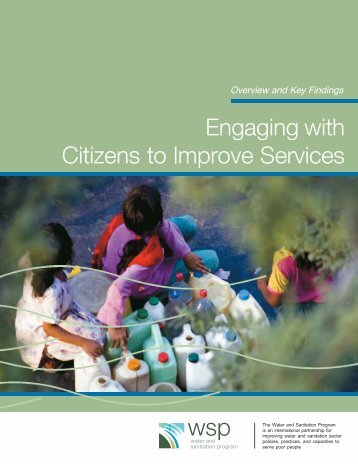 Engaging with Citizens to Improve Services - WSP