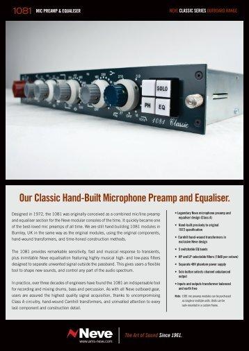 Neve 1081 Flyer - Advanced Audio