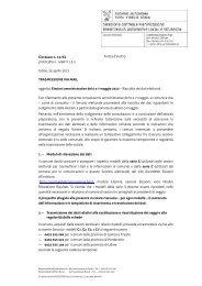 n. 13/EL - Raccolta dei dati elettorali. - Sistema delle autonomie locali
