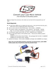 Convert Your Losi Micro to a Brushless System - Robitronic