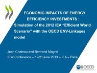 Economic Impacts of Energy Efficiency Investments Simulation of the ...