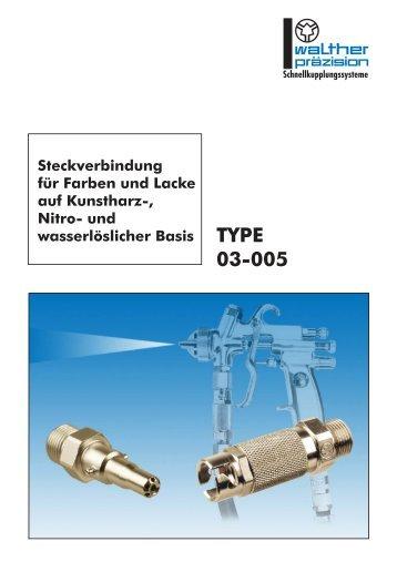 TYPE 03-005 - Carl Kurt Walther GmbH & Co. KG