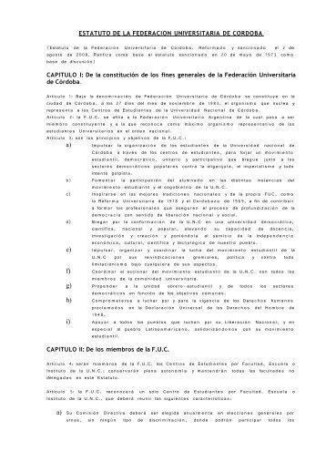 congreso de la federacion universitaria de cordoba - Indymedia ...