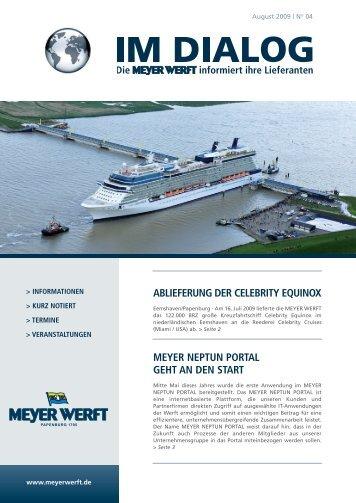 ablieferung der celebrity equinox - Meyer Werft