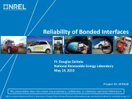 Reliability of Bonded Interfaces - Department of Energy - U.S. ...