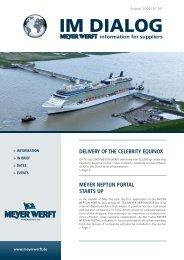 meyer neptun portal starts up delivery of the celebrity ... - Meyer Werft