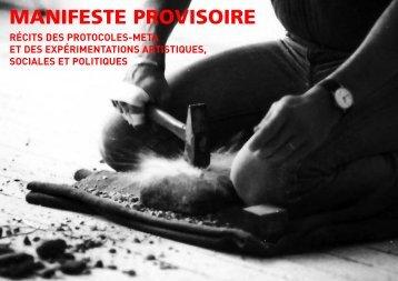 Manifeste provisoire - protocoles meta