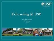 E-Learning @ USP - PacNOG