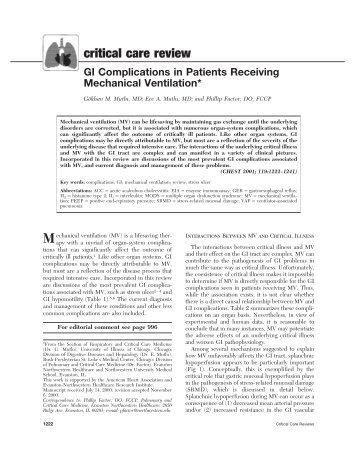 critical care review - Portal Saude Brasil . com