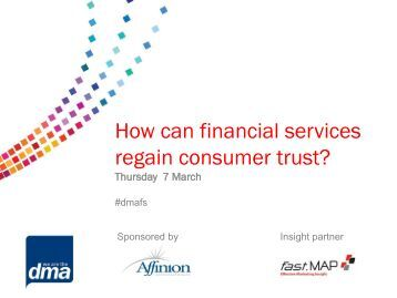 How can financial services regain consumer trust? Part 1 - The ...