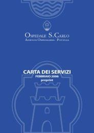 Carta dei Servizi.pdf - Ospedale San Carlo