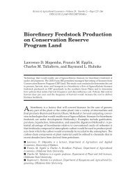 Biorefinery Feedstock Production on Conservation Reserve ...